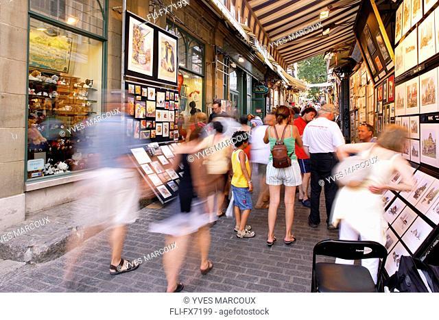 Art Sale on Tresor Street in Old Quebec, Quebec City, Quebec