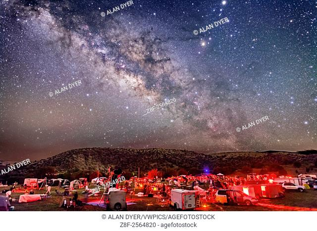 The galactic centre region of the Milky Way in Sagittarius and Scorpius, over the upper field of the Texas Star Party, near Fort Davis, Texas, May 13, 2015