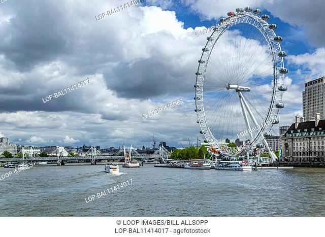 View of the River Thames from Westminster Bridge towards the London Eye