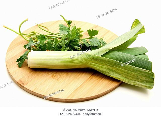 Leek with parsley
