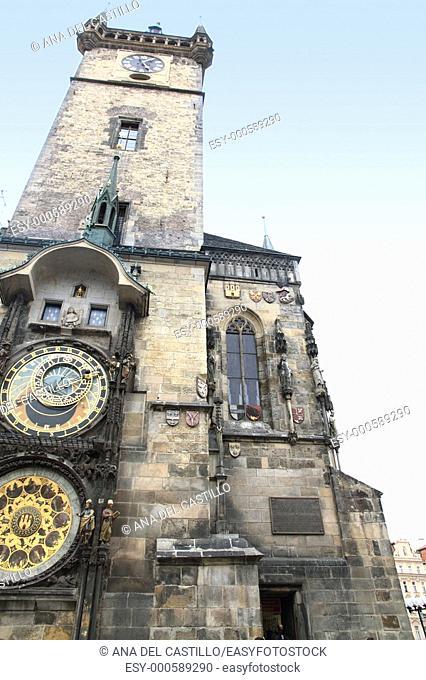 Astronomical clock, Old Town Hall  Prague  Czech Republic