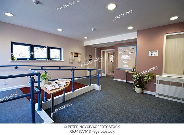 Coley Park Childrens Centre entrance and reception