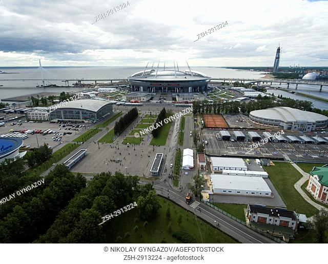 Football stadium Zenit-Arena in St. Perepberburg. Russia
