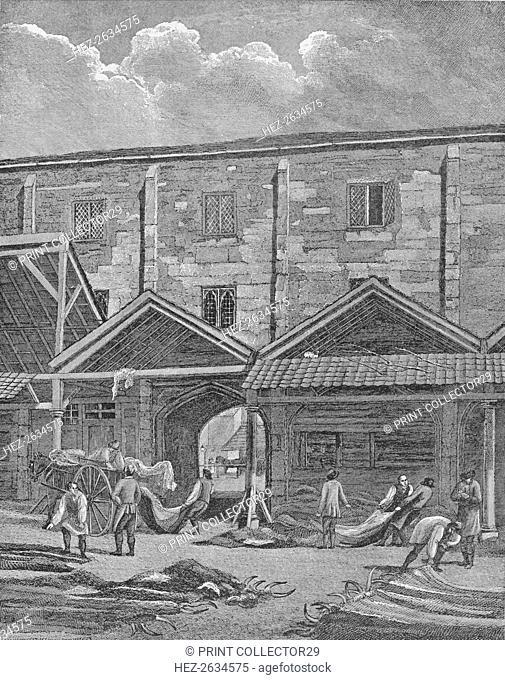 Skin Market, Leadenhall, City of London, 1825 (1911). Artist: Thomas Dale