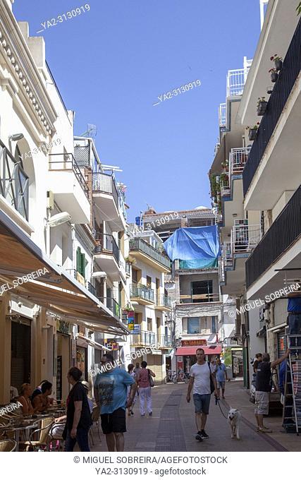 Carrer Del Marques De Mont-Roiq in Sitges Town Centre - Spain