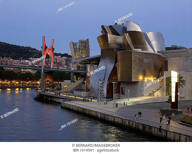 Guggenheim Museum by architect Frank O. Gehry, Bilbao, Biscay Province, Basque Country, North Spain, Europe