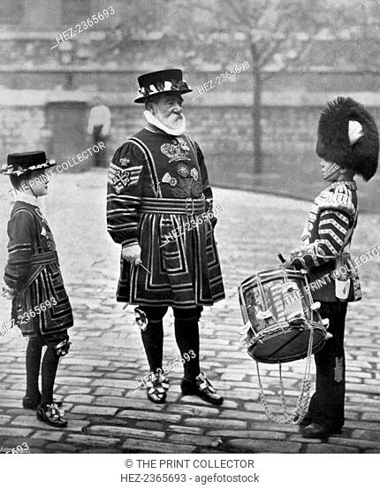 Sergeant-Major Patrick Penrose, the 'Yeoman Porter', London, 1896. Sergeant-Major Penrose, Chief of the Yeoman Warders of the Tower