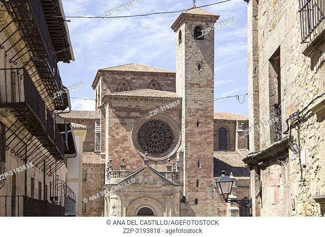 Saint Mary church at Main square in Siguenza is a medieval village in Guadalajara Castile La Mancha Spain