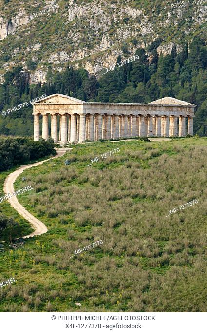 Italy, Sicily, Trapani district, Segesta, Greek temple