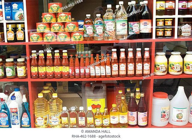 Shop window in the Old Spice Souk, Deira, Dubai, United Arab Emirates, Middle East