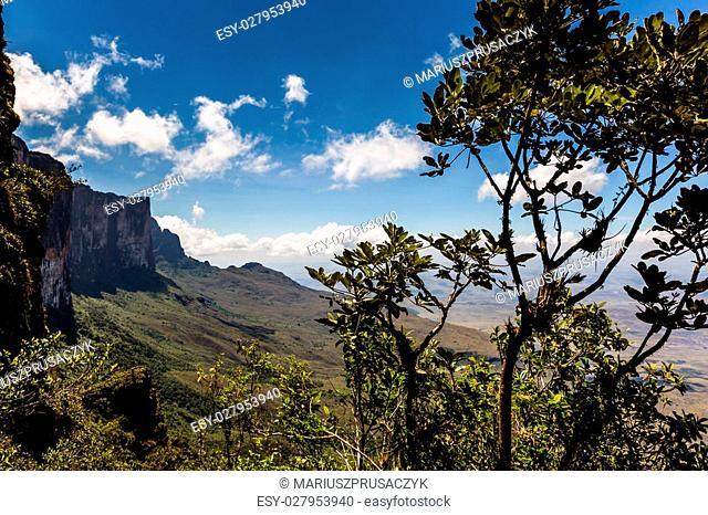 View from the plateau Roraima to Gran Sabana region - Venezuela, South America
