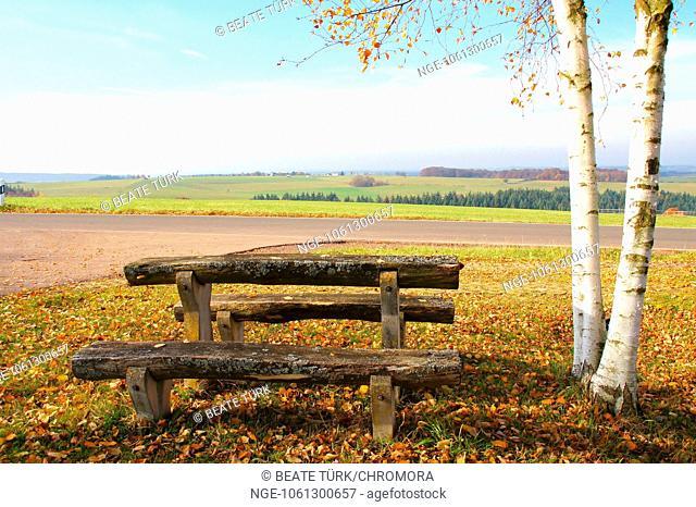 Rest area in the Eifel