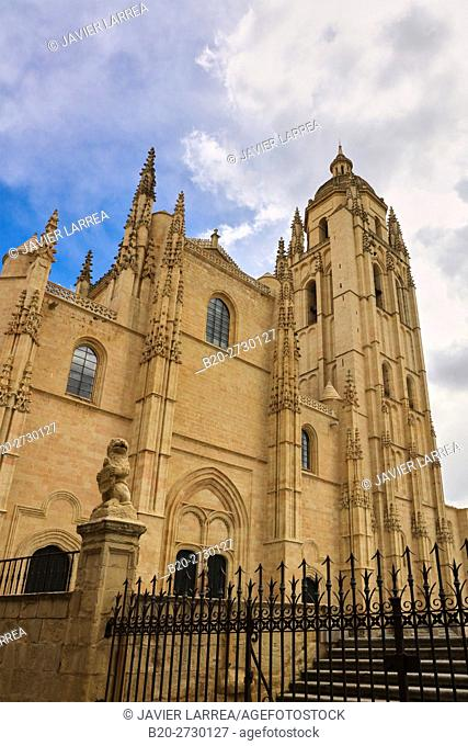 Cathedral, Segovia, Castile and Leon, Spain, Europe