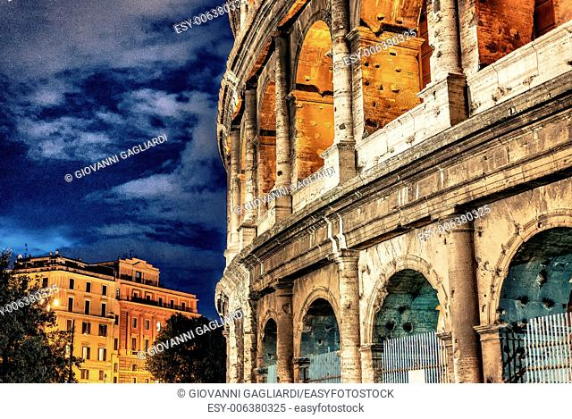 Beautiful view of Colosseum, Rome landmark