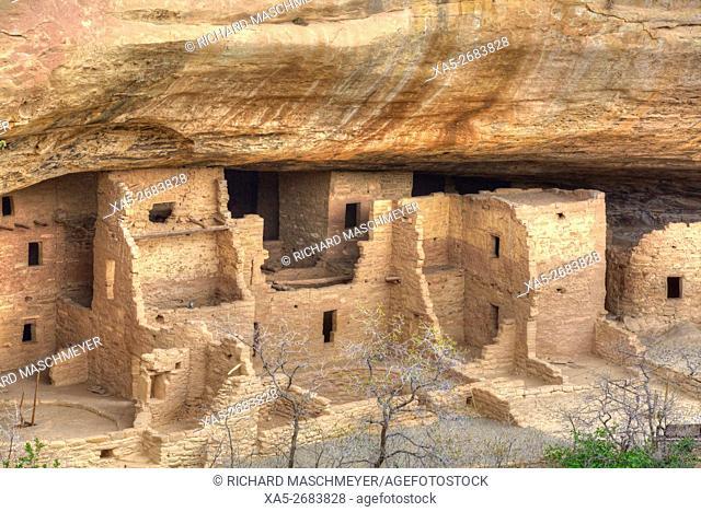 Anasazi Ruins, Spruce Tree House, Mesa Verde National Park, UNESCO World Heritage Site, 600 A.D. - 1,300 A.D., Colorado, USA