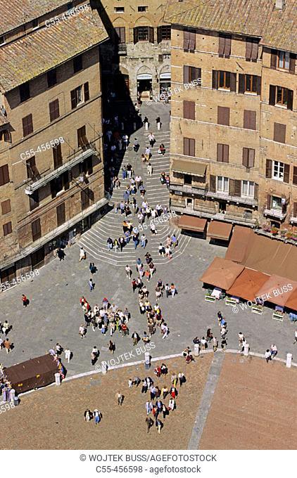 Piazza del Campo, Siena. Tuscany, Italy