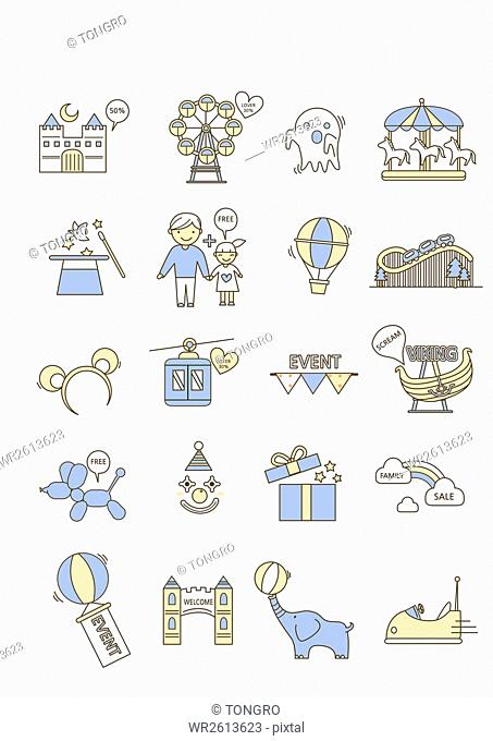 Icons related to amusement park