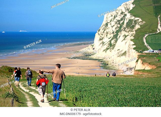 France, Pas-de-Calais, cliffs of the cap Blanc-Nez