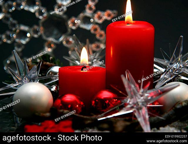 rote Kerzen