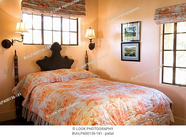 Master bedroom in spanish style home Stock Photos and Images | age ...