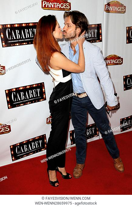 Opening of 'Cabaret' at Hollywood Pantages - Arrivals Featuring: Anna Trebunskaya, Louis Van Amstel Where: Hollywood, California