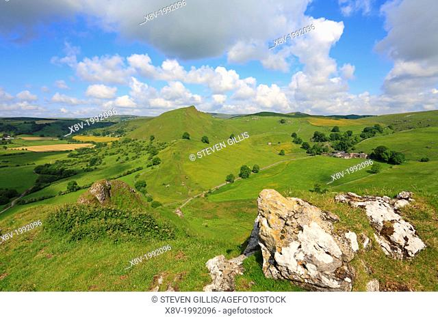 Chrome Hill from Parkhouse Hill, Derbyshire, Peak District National Park, England, UK,