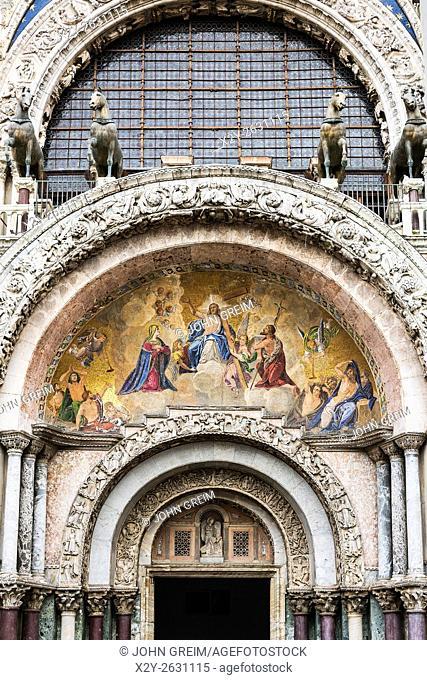 St Mark's Basilica, door detail, Venice, Italy
