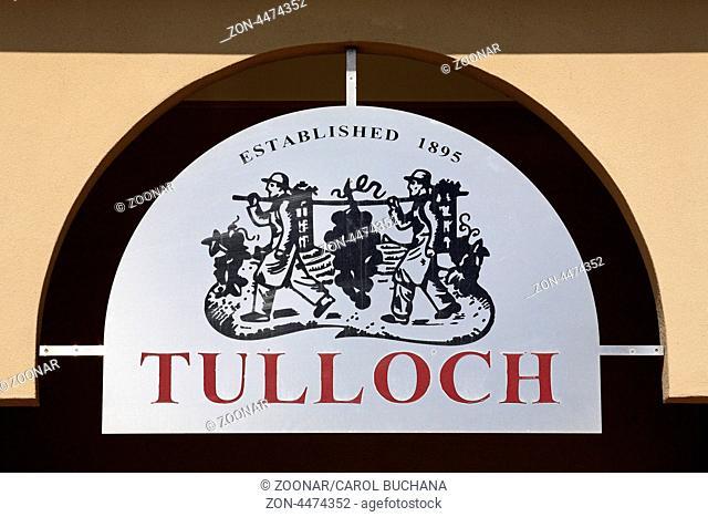 Sign at Tulloch Wines , Pokolbin, Hunter Valley, New South Wales, Australia