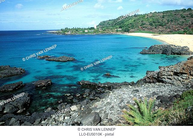 Scenic View of Waimea Bay  Oahu, Hawaii, United States of America