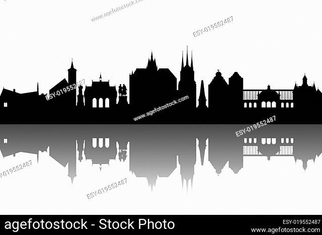 Erfurt Silhouette abstrakt
