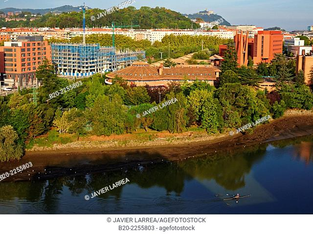 Urumea river. Donostia, San Sebastian. Gipuzkoa. Basque Country. Spain