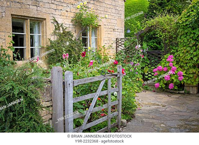 Garden entry to home in Stanton, the Cotswolds, Gloucestershire, England