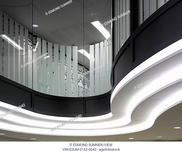 60 London at Holborn Viaduct, London, United Kingdom. Architect: Kohn Pedersen Fox Associates (KPF), 2014. Interior Detail
