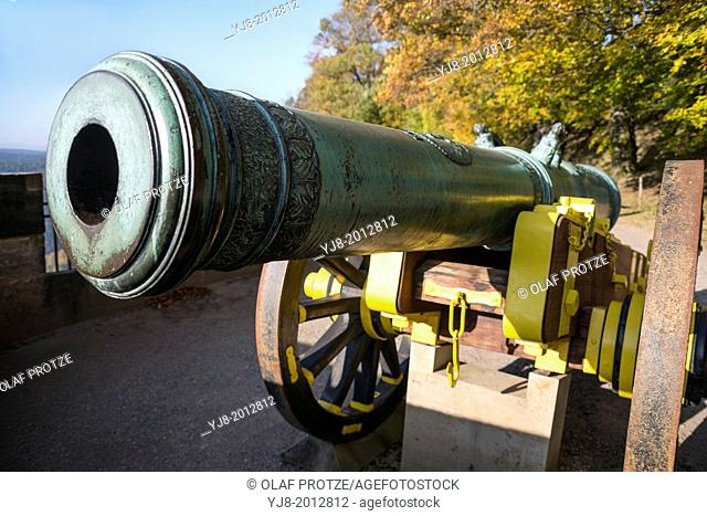 Historical cannon at Castle Koenigstein, Saxony, Germany