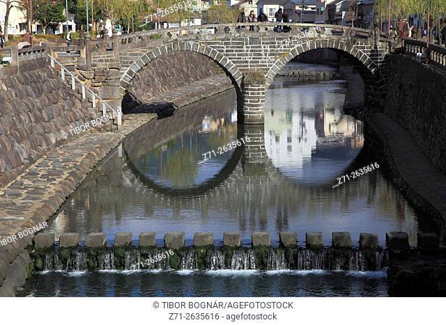 Japan, Nagasaki, Megane-bashi Bridge,