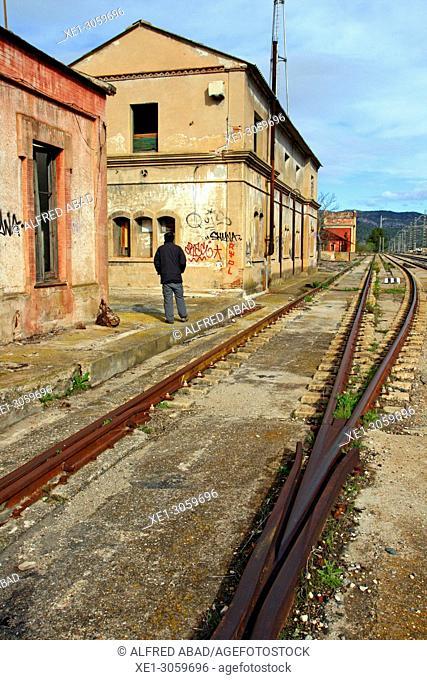 old railway station, Móra la Nova, Catalonia, Spain