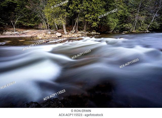 Rapids in Killarney Provincial Park, Ontario, Canada