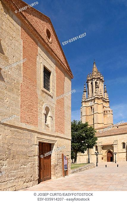 Church of San Miguel in Ampudia. Spain