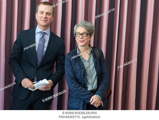 Philipp Demandt, the new director of the Staedel museum, and Ina Hartwig, city councillor in charge of cultural affairs, photographed at the Staedel museum in...