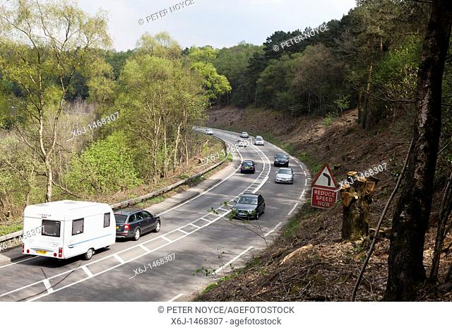 A3 around the devil's punch bowl at Hindhead