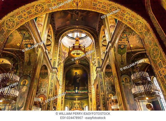 Basilica Saint Volodymyr Cathedral Kiev Ukraine. Saint Volodymyr was built between 1882 and 1896. It is the mother church of the Ukrainian Orthodox church