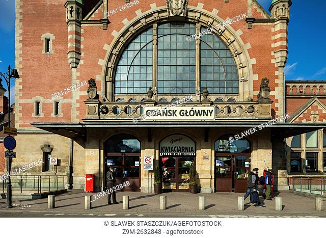 Morning at the historic Main Station in Gdansk, Poland