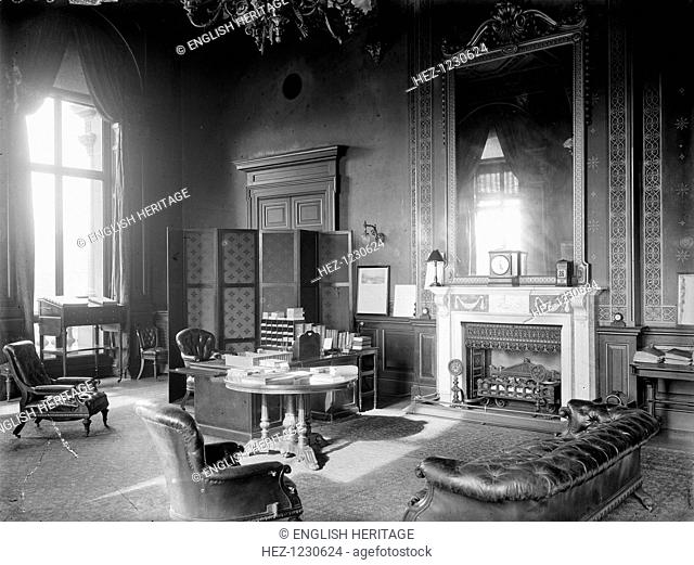 The office of Neville Chamberlain as Foreign Secretary, London, 1924. It is in the Foreign & Commonwealth Office in Whitehall, Westminster