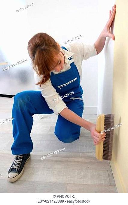 Woman decorator