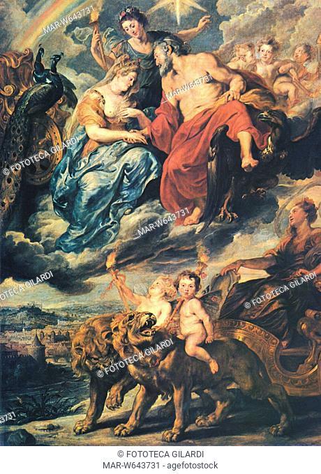 Peter Paul RUBENS (1577-1640) Il matrimonio di Enrico IV con Maria de' Medici. Dal ciclo dedicato alla vita di Maria de' Medici, 1621-25