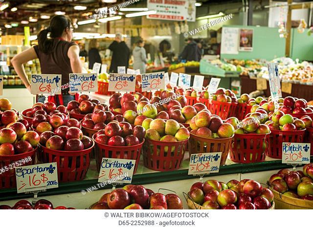 Canada, Quebec, Montreal, Marche Jean Talon market, apples