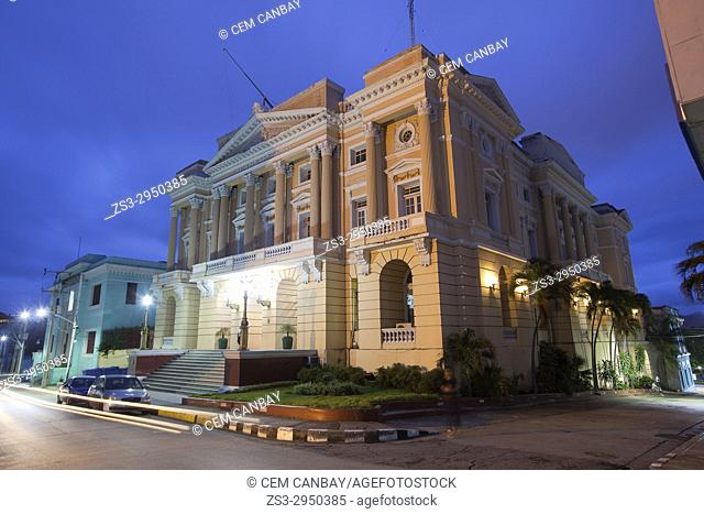 View to the Palacio Provincial in the city center, Santiago de Cuba, Cuba, Central America