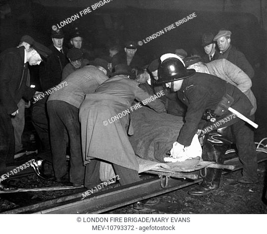 Crash between two trains in fog between St Johns and Lewisham, London, on 5 December 1957, in which many people were killed and injured