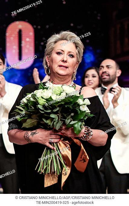 Carolyn Smith at the tv show Ballando con le stelle (Dancing with the stars) Rome, ITALY-20-04-2019