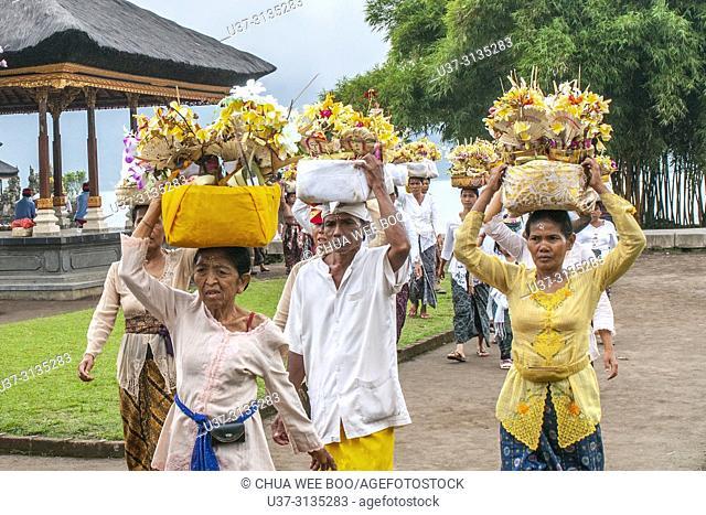 Celebration at Ulun Danu Beratan Temple, Tabanan, Bali